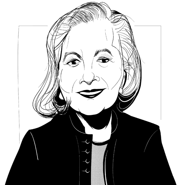 Ratna Omidvar. Illustration by Antony Hare.