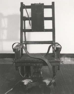 """Sparky"" the electric chair from Sing Sing prison."