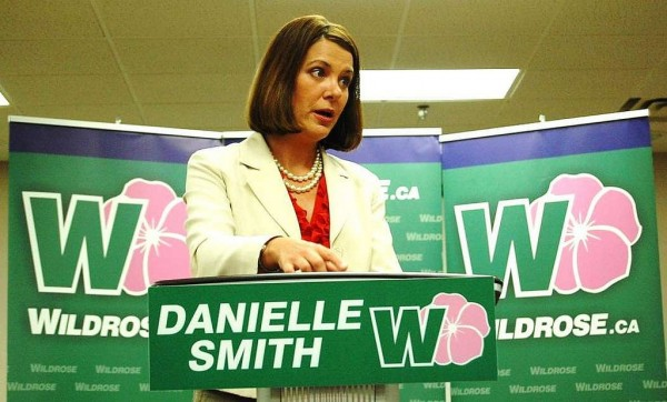 Wildrose Alliance leader Danielle Smith stumping during her summer tour of Alberta. The far-right party has weakened the right flank of the Progressive Conservatives. Image courtesy Wildrose Alliance.