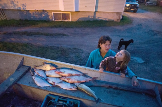 Fort Chipewyan residents are increasingly afraid to consume the fish pulled from Lake Athabasca. Photo by Ian Willms.