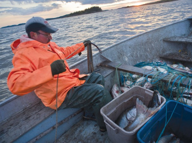 Other than working in the oil sands, commercial fishing is one of the last ways to make a living in Fort Chipewyan.